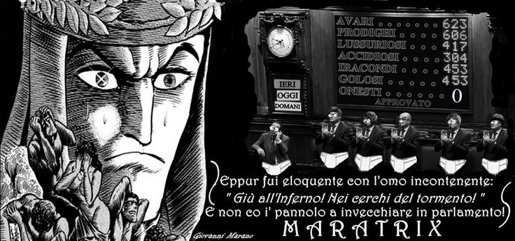Gli incontinenti. Maratrix è una rubrica inventata e gestita da Giovanni Marano un napoletano con laurea ad honorem in fiorentinaccio.