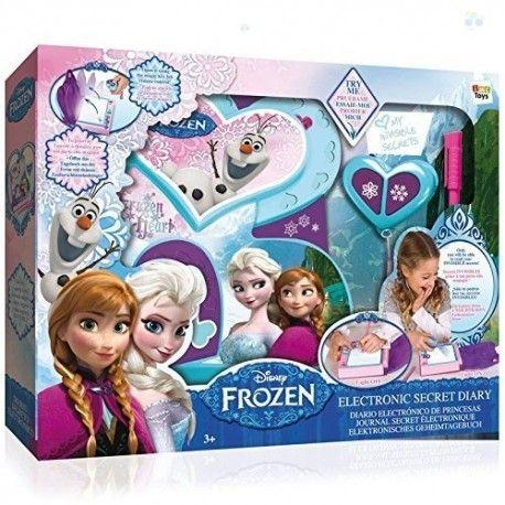 Elektroniczny pamiętnik Frozen to idealna zabawka dla każdej dziewczynki.  Pamiętnik z pewnością przypadnie do gustu każdej fance popularnej bajki, ponadto będzie jej powiernikiem.  Tylko właścicielka będzie mogła go otwierać za pomocą specjalnego klucza oraz tylko ona będzie miała dostęp do jego zawartości.  W świetle dziennym pamiętnik wygląda jak zwykły zeszyt – sekrety są niewidzialne, odczytać ich treść można jedynie za pomocą specjalnej lampki.