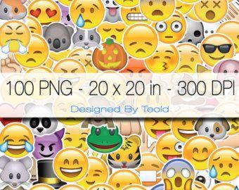 Digital Photo Booth 100 single Emoji 20x20 inch 300 dpi Png Partys Birthday Party Printable Photo Graduate WhatsApp Digital Direct Download