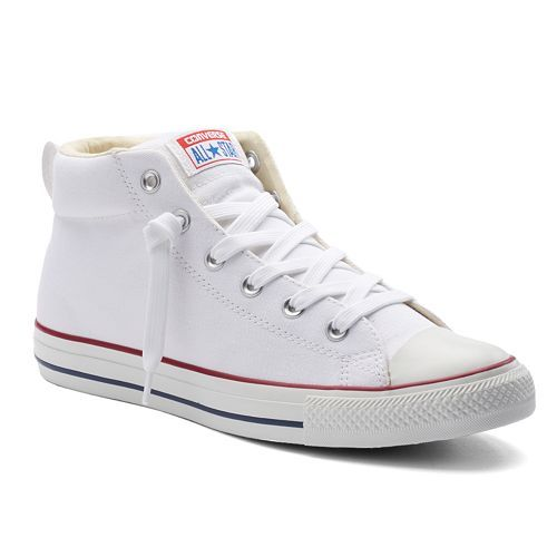Converse All Star Chuck Taylor Street Mid-Top Sneakers for Men (7)  (women's 8 1/2)