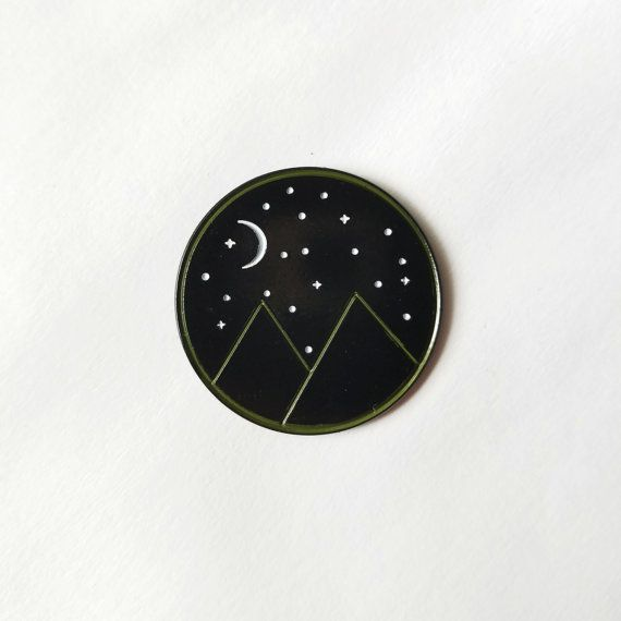 My Mountains enamel pin