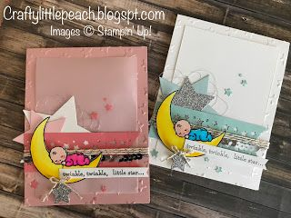 Crafty Little Peach: Stampin' Up! Moon Baby Baby Shower card #GDP086