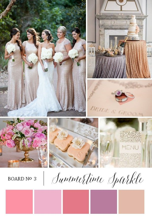 Summertime Sparkle Glitter Color Themes For Wedding Engagement