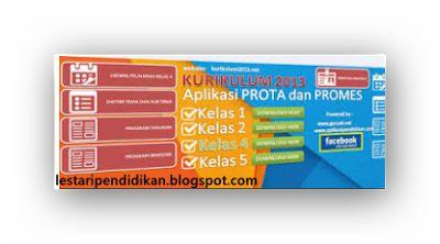 Aplikasi Pembuatan Prota dan Promes SD/MI Kurikulum 2013 Guru Kelas