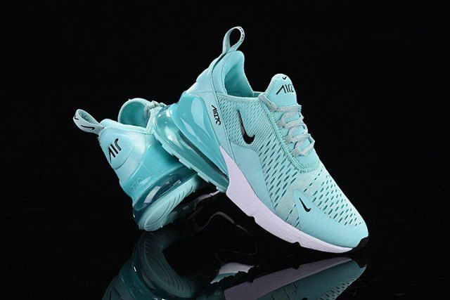 Nike Air Max 270 Flyknit Ghost Green Black White Trainer