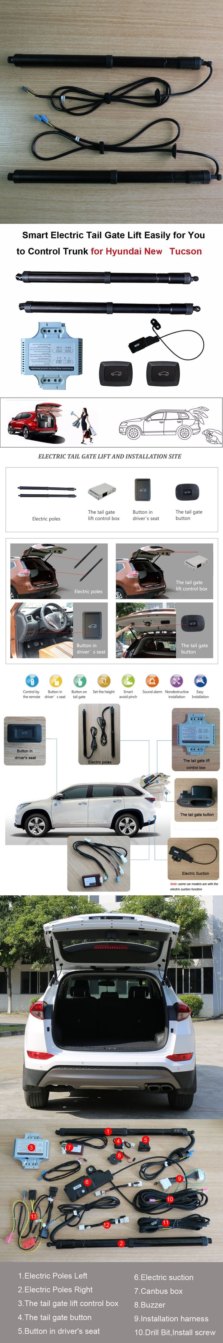 Best 25 control remoto porton electrico ideas on pinterest smart auto electric tail gate lift for hyundai new tucson remote control set height avoid pinch rubansaba