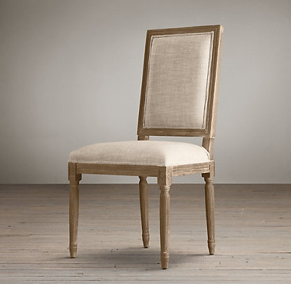 Vintage French Square | Restoration Hardware - chairs for my dining room
