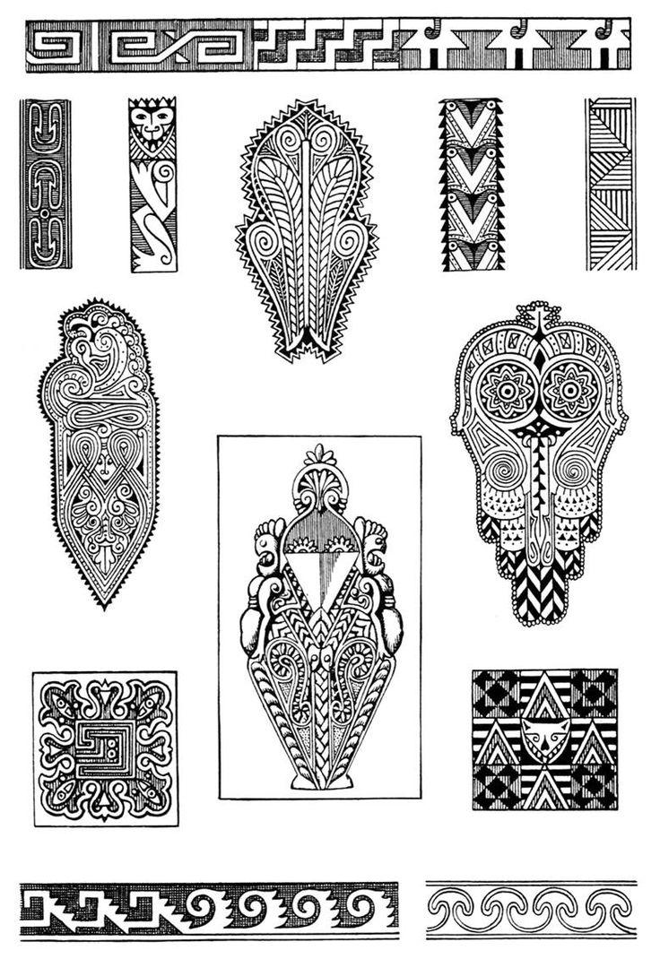 African ornaments, from Ornaments, Styles, Motives by NS Voronchihin, NA Emshanova, Udmurtia University publisher