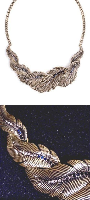 Phoenix feather necklace // #jewelry_design