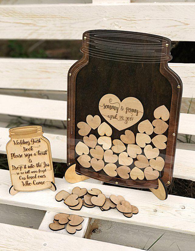 Wedding Guest Book Alternative Mason Jar Etsy Rusticwedding Vintagewedding Weddingideas Weddinginspiration Weddingreception