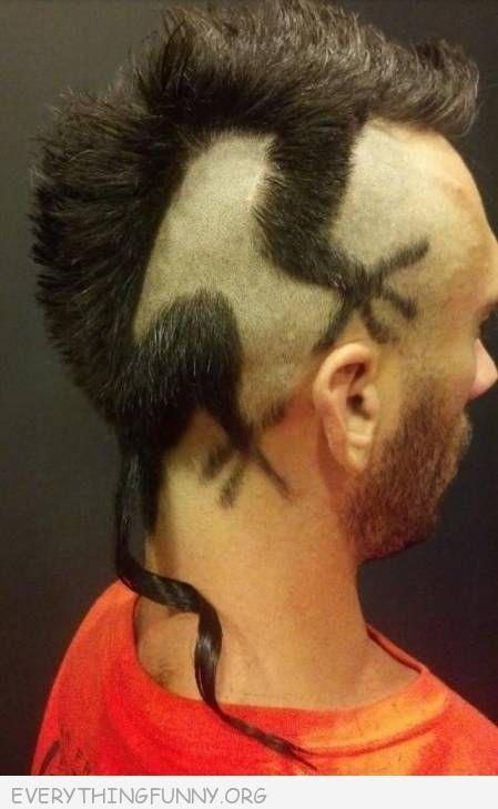 funny photos lizard haircut