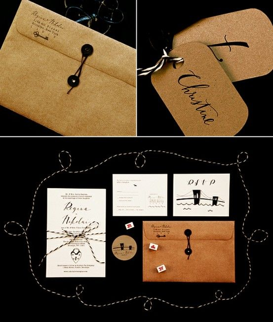 Gorgeous brown paper and hand drawn type
