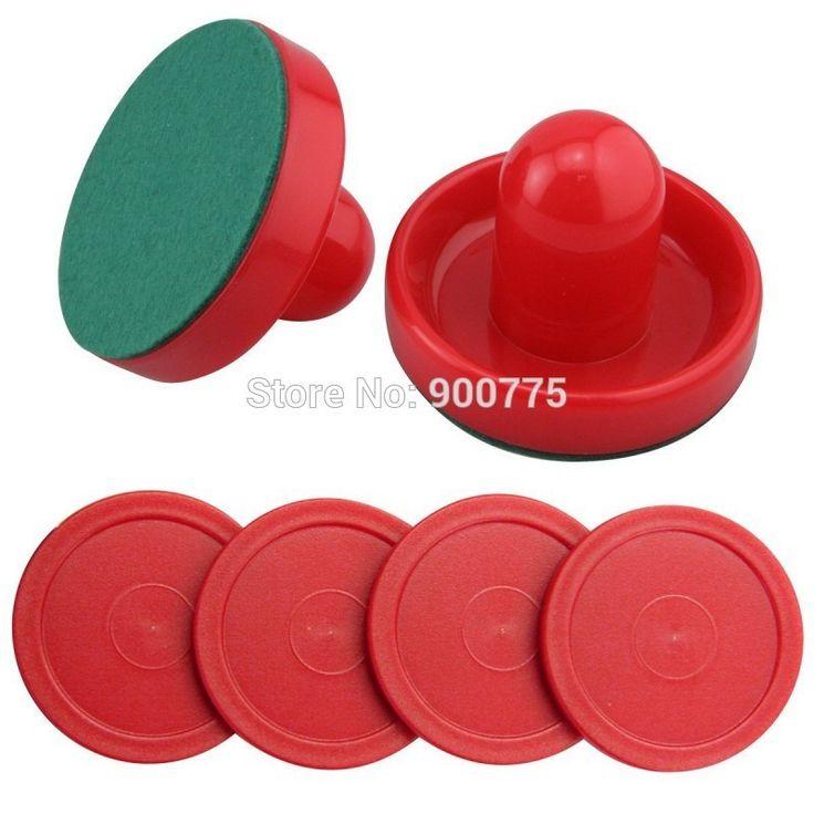 Air Hockey 75mm Goalies & 52mm Puck Felt Pusher mallet Adult Table games entertaining toys