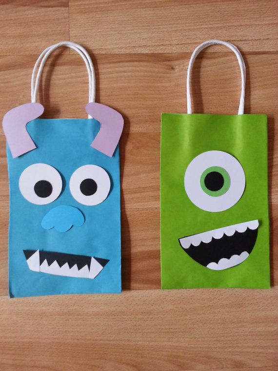 Monsters Inc Party Favor Gift Bags by PartyRockinEvents on Etsy, $3.00