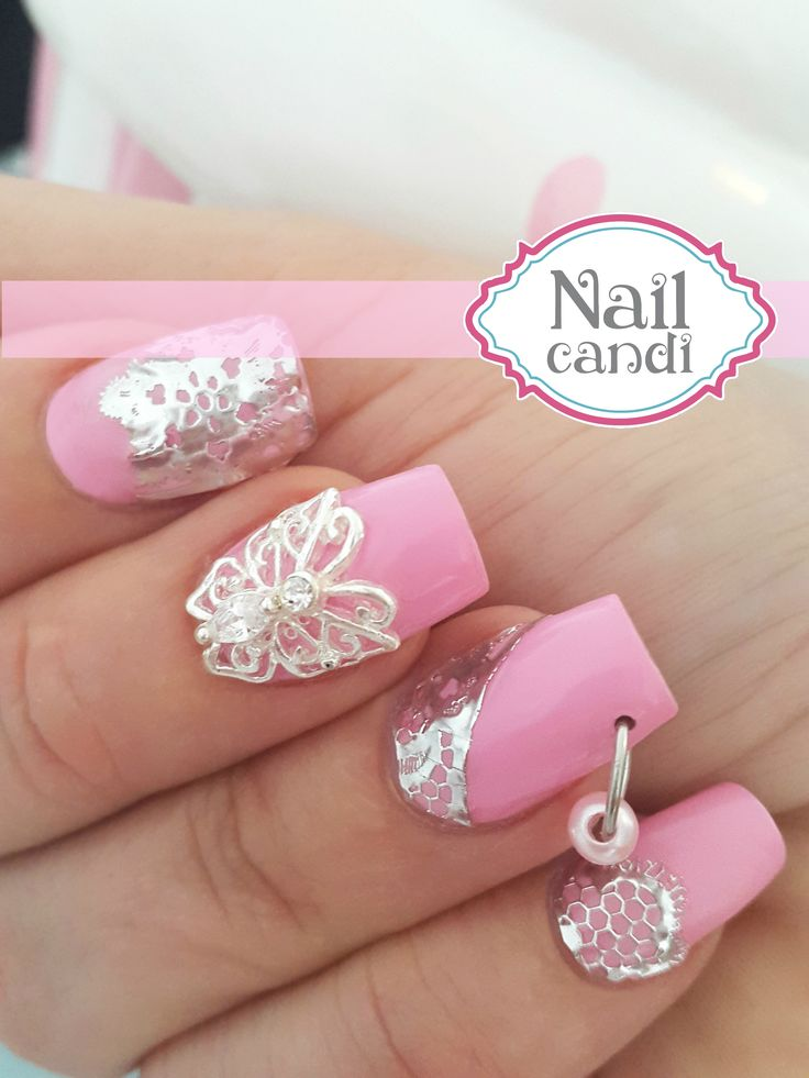Filigree butterfly manicure jewel and pear piercing - available from www.nailcandi.co.za We ship worldwide!