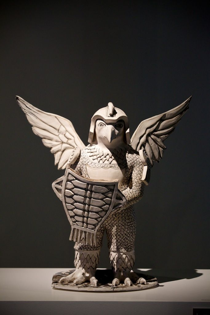 'Single Headed Armoured Bird' by Katherine Morling in 'Real to Reel: film as a material in making' - a Crafts Council Touring Exhibition @ The National Centre for Craft & Design - image by Sophie Mutevelian