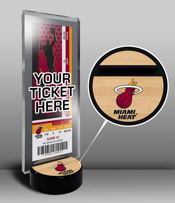 Miami Heat Ticket Display Stand - Team Logo or My First Game