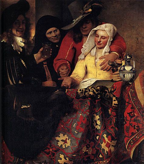 """Thought to be a possible Vermeer but the """"Proccuress""""is probably a painting owned by but not of the Dutchman"""