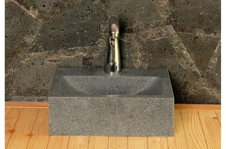 Lave-mains en pierre 32x27cm BALTIC granit véritable