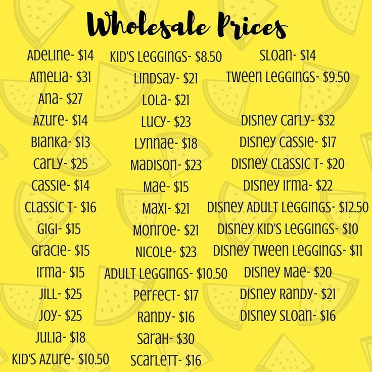 Image Result For Lularoe Price List Wholesale