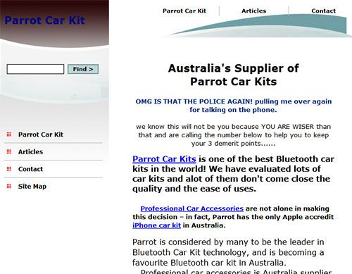 Bluetooth Car Kit Reviews Melbourne http://www.parrotcarkit.com.au/