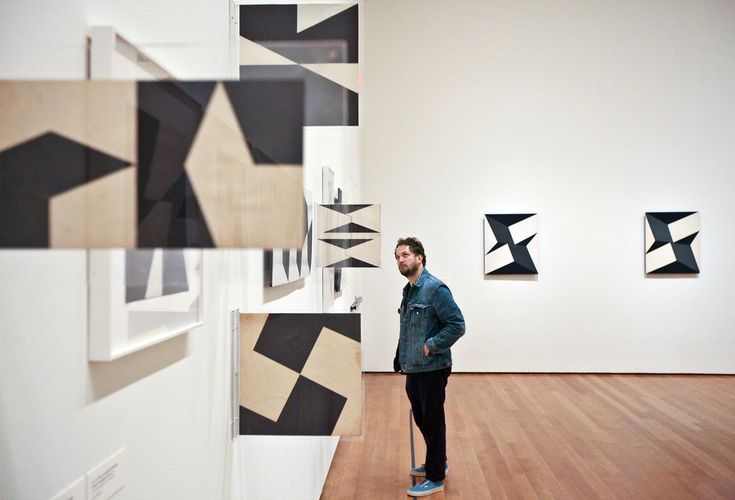 "Lygia Clark's geometric abstractions ""Modulated Space"" series. Many Twists and Turns, at MoMA - NYTimes.com"