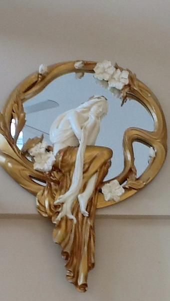 Very Unique Mirror with women's 3D Figure - Gallery of Home Decor