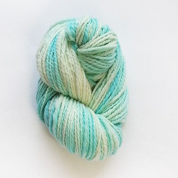 Frozen Handspun Superwash Merino Yarn by ArtyThreads on Etsy