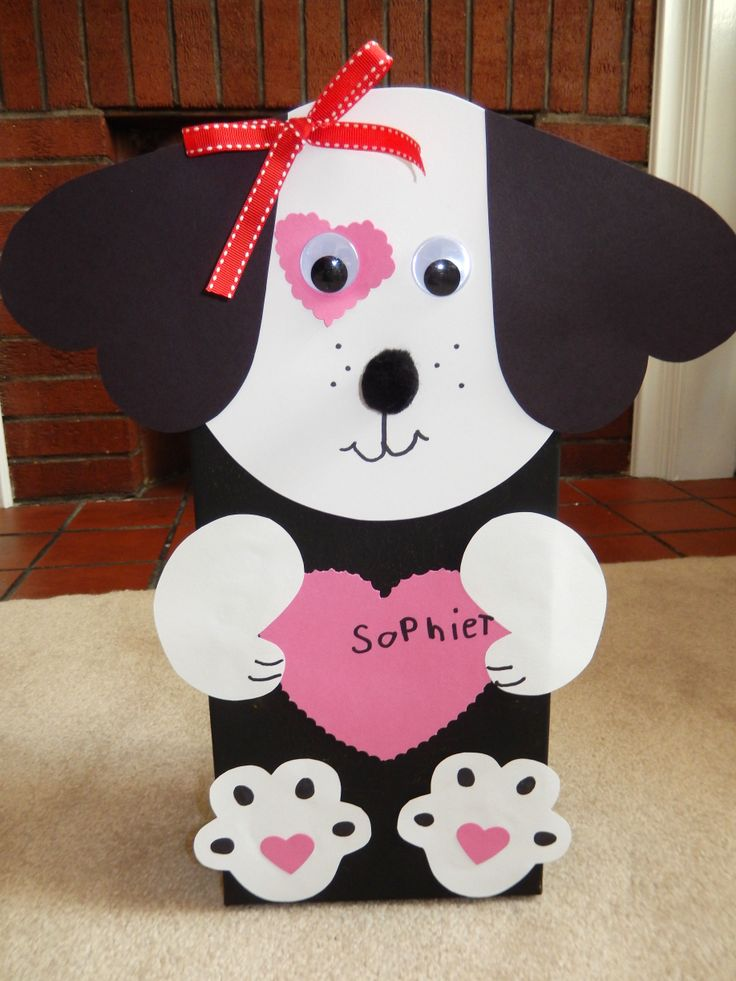 Best 20 valentine box ideas on pinterest valentine for Dog craft ideas