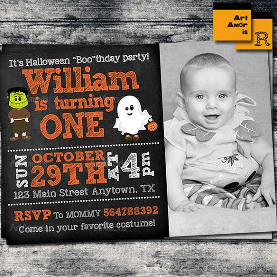 Halloween Invitation Halloween Birthday Invitation by ArtAmoris