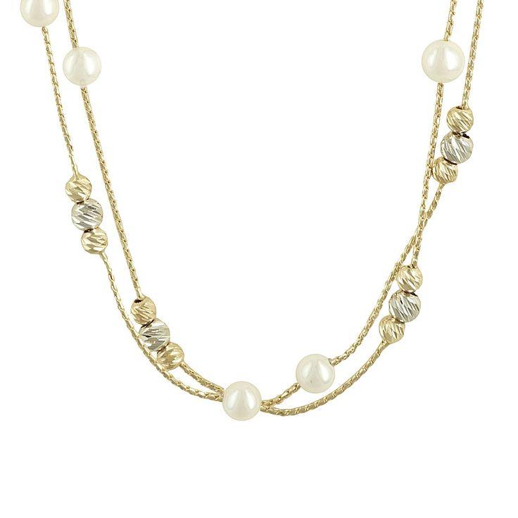 ΜΕΤΑΛΛΟ: Κίτρινος Χρυσός και Λευκόχρυσος  ΚΑΡΑΤΙΑ: 14  ΜΗΚΟΣ: 42.00 cm  ΦΙΝΙΡΙΣΜΑ: Λουστρέ/Διαμανταρισμένο  ΠΕΤΡΕΣ: Akoya Pearls σε 3.40 mm  Διαθέσιμο και σε SET. Δείτε το SET εδώ