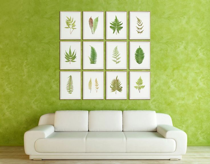 Fern art prints large set of 12 fern wall art fern wall decor fern home decor fern art fern print fern pictures gallery wall