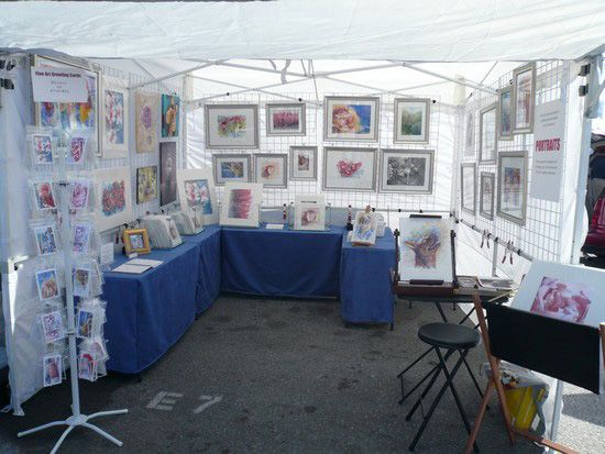 GREAT article on Outdoor Art Show Necessities and Booth Setup
