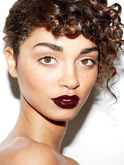 Black-Cherry Lips: To keep this dramatic shade from looking too heavy, Black suggests pairing it with curled lashes, subtle contouring, and a touch of highlighter on the inner corners of the eyes, like Nars Soft Touch Shadow Pencil in Goddess.