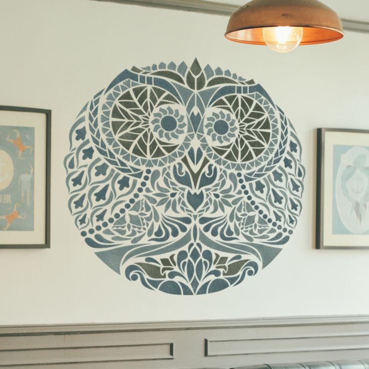 Awesome Symmetrical Stencil - Unique Design Stencil - Mandala-style Stencil - Zendala - Zentangle Design This easy to use wall stencil is a perfect solution for your decoration idea. *Need a bigger si