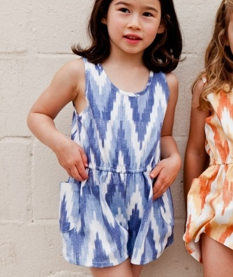 boy girl - desert romper