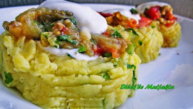 Dilek'le Mutfakta: Patates Çanağında Közlenmiş Patlıcan Salatası