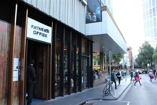 Side view of the main entrance on Swanston St at the QV centre near San Churos