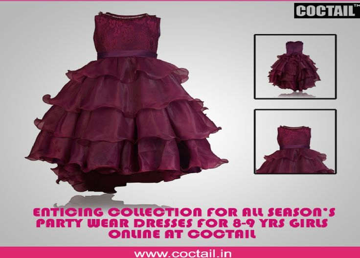 party wear dresses for 8 year girl -  COCTAIL.IN online store which is the best and the finest destination for all kinds of party wear frocks for 8-9 yrs old girls.  https://www.coctail.in/collections/8-9-years-girls-partywear-dresses
