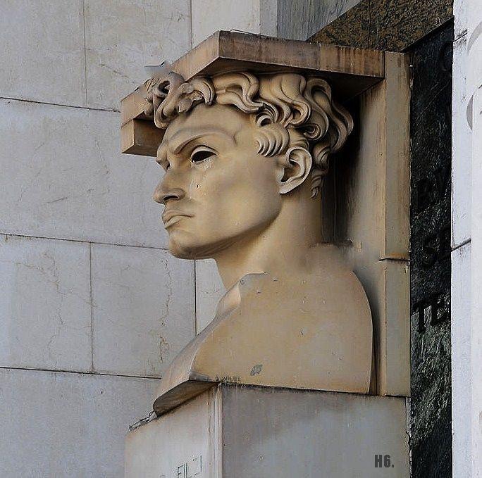 Fabio Filzi. by Adolfo Wildt Bozen. Italian. 1868-1931.  Bolzano Victory monument. Italy