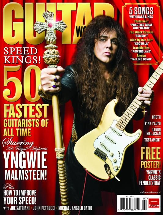 July 2008 Yngwie Malmsteen Guitar World Magazine Covers