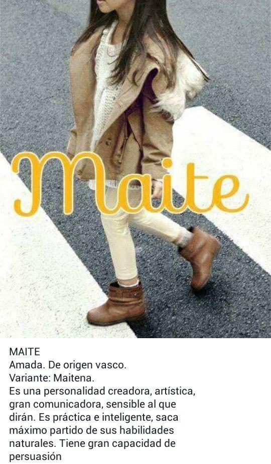 Nombres de niñas, significado del nombre Maite