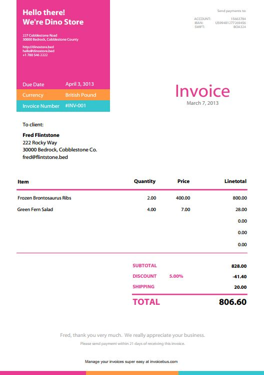 Best Invoices Images On   Invoice Template Sample