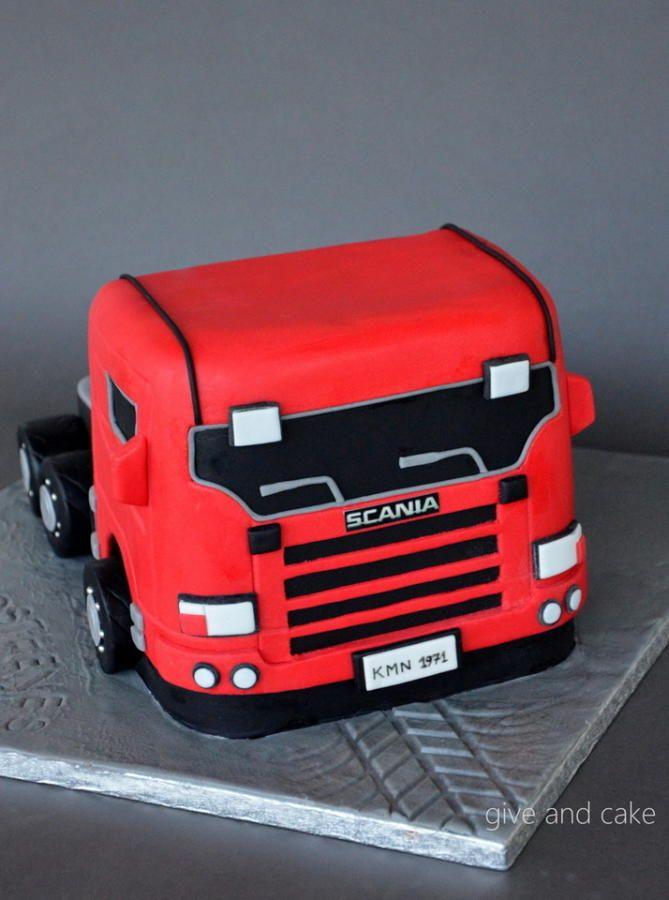 scania+truck+cake+-+Cake+by+giveandcake
