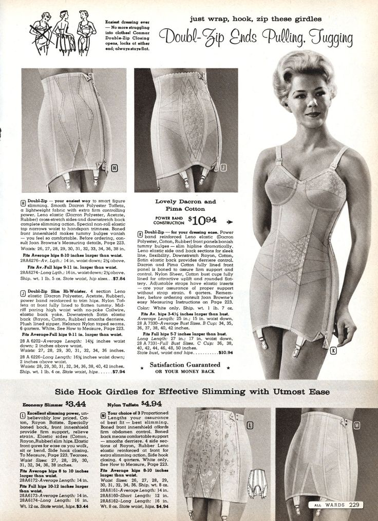Meredith. Mom liked firm control corselets and these long zippers made them so convenient.