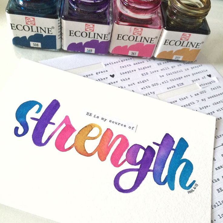 100 Words of the Maker 04    Philippians 4:13  I can do all things through him who gives me strength  #100wordsofthemaker   #calligraphy #brushcalligraphy #calligrabasics #handlettering #brushlettering #type #calligraphyvideo #ecoline  #watercolourlettering #merdrey #strengthinletters #christiancreative #letteringHisLove #everydaybiblelettering  #30daysofbiblelettering  #100dayproject