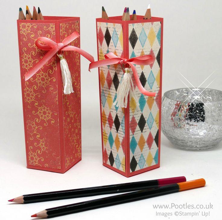 Cupcakes & Carousels Watercolour Pencils Pot