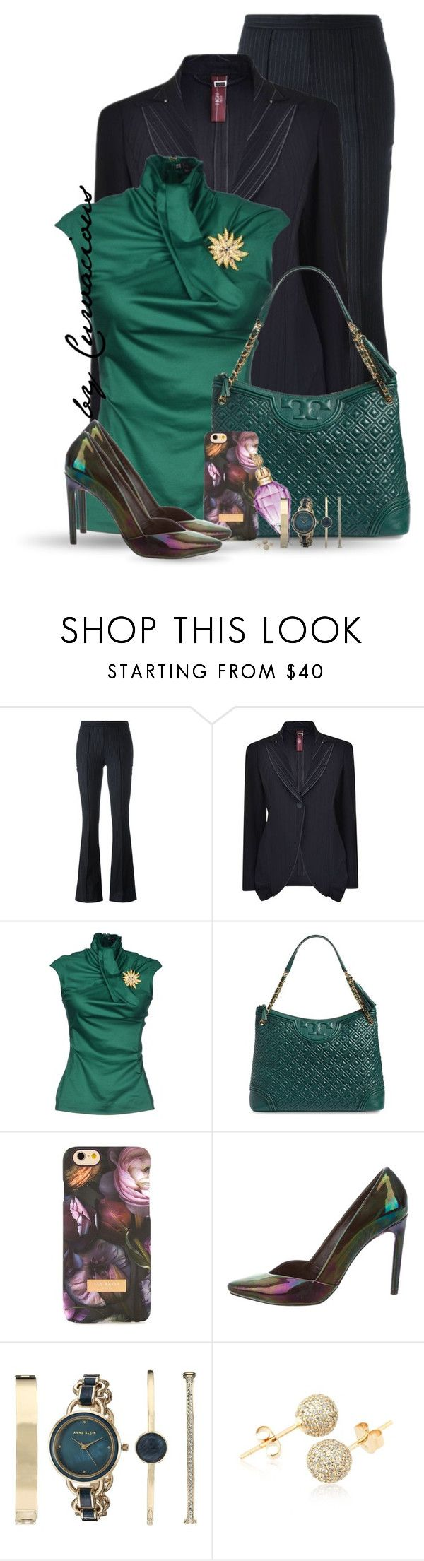 """Workwear: Trousers"" by curvacious ❤ liked on Polyvore featuring Erika Cavallini Semi-Couture, HIGH, Dsquared2, Tory Burch, Ted Baker, Proenza Schouler, Anne Klein and Loushelou"