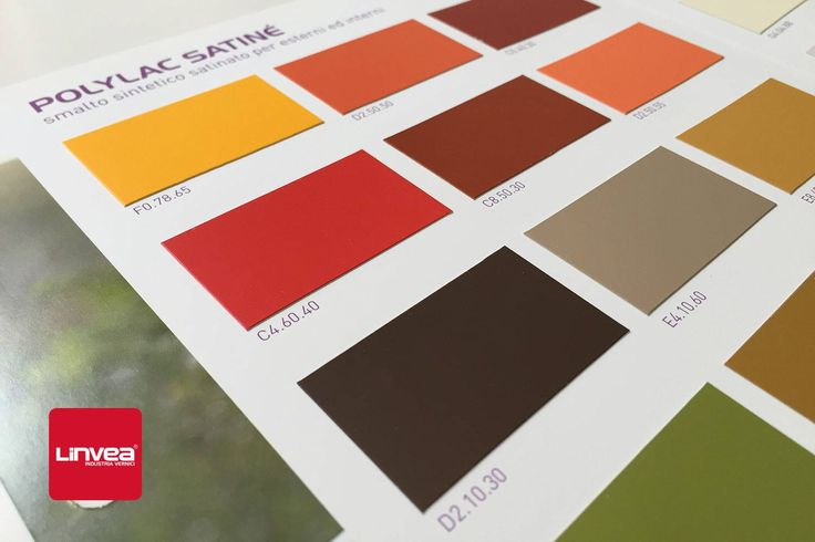 Cartella Colore: #PolylacSatine - Lo #smalto sintetico per esterni e interni di #Linvea. #vernici #farben #colors #colori