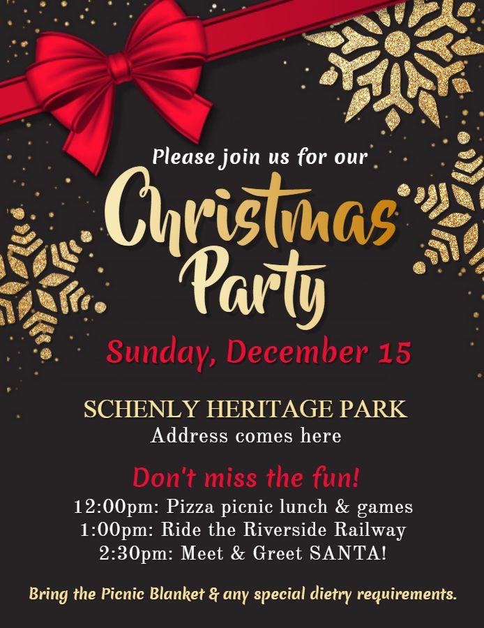 Glossy Christmas Party Invitation Poster Flyer Idea Christmas